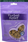 Furball Relief for Cats <B>From the Manufacturer's Label:</B> <P>Get Naked Furball Relief Treats for Cats encourages a healthy digestive system with the aid of probiotics and natural dietary fiber. These tasty semi-moist treats contain natural lubricants (fish oil & olive oil) to help control furballs, by helping their passage through the digestive system.</P> 2.5 oz Bag  $7.99