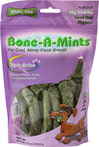 Bone-A-Mints® Small <B>From the Manufacturer's Label:</B> <P>The first wheat-free breath freshening bone. Highly soluble to reduce the risk of blockage of the intestines and esophagus. Wheat Free Bone-A-Mints® removes plaque, tartar and freshens breath for unbeatable Triple Action Cleaning Power.  For dogs 10-19 lbs.</P> 10 Pack  $15.29