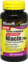 Niacin Flush Free 750 mg <B>From the Manufacturer's Label:</B> <P>Extra Strength Flush-Free Niacin contains 750 mg of Niacin and 211.5 mg of Inositol.</P>  50 Capsules 750 mg $11.49