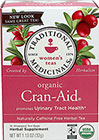 Organic Cran-Aid® Herbal Tea <p><b>From the Manufacturer's Label:</b></p>  <p>Promotes Urinary Tract Health**</p> <p>Naturally Caffeine Free Herbal Tea</p>  <p>The noble cranberry—famous for its presence on Thanksgiving tables—is a native North American fruit that was widely used by Native American tribes.  European settlers enthusiastically adopted the fruit and by the early 1800s its benefits were widely established.</p>  <p&g