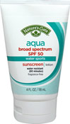 Aqua Block Very Water Resistant Sunscreen SPF 50 <p><b>From the Manufacturer's Label:</b></p> <p>With Chamomile Extract</p> <p>UVA/UVB Protection</p> <p>Fragrance-Free</p> <p>Paraben-Free</p> <p>Designed for Active Water Sports Enthusiasts  such as surfers and scuba divers.  This very water resistant formula provides broad spectrum UVA & UVB protection and won't run in your eyes.  Chamomile and Shea Butter