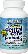 Adult's Dental Care Probiotic Lozenges <p><b>From the Manufacturer's Label:</b></p> <p>Probiotic, Vitamin D3, Calcium and CoQ10 Supplement </p> <p>Dental Health Support </p> <p>Vegetarian & Hypo-Allergenic </p> <p>Gluten Free </p> <p>Natural Peppermint Flavor</p> <p>Adults Dental Care Probiotic Lozenges is the exciting new supplement with live M18 probiotic cells and L. acidophilus, plus vitamin