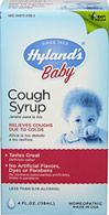 Hyland's Baby Cough Syrup </p><b>From the manufacturer:</b></p><p>Relieves coughs due to colds</p><p>Tastes great</p><p>No artificial flavors, dyes or parabens</p><p>Less than 0.1% alcohol</p>  4 oz Liquid  $6.99
