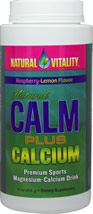 Natural Calm Plus Calcium Raspberry - Lemon <B>From the Manufacturer's Label:</B> <P>This premium formulation includes Magnesium Vitamin D, Boron, and Vitamin C.  Natural Calm Plus Calcium is excellent for athletes and anyone who works out.  Natual Calm Plus Calcium is Rasberry-Lemon flavored, Vegetarian, and Gluten Free.</P>  16 oz Powder  $27.99
