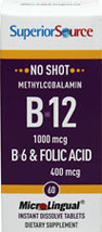 Vitamin B-12 1,000 mcg with Vitamin B-6 2 mg & Folic Acid 400 mcg Microlingual