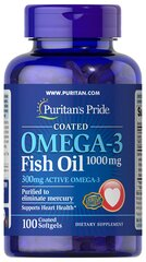 Omega-3 Fish Oil Coated 1000 mg