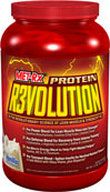 "Protein Revolution Vanilla MET-Rx® PROTEIN REVOLUTION IS THE ULTIMATE, RECOVERY FORMULA – A CUTTING-EDGE PROTEIN FORMULATION CONTAINING FOUR HIGH-PERFORMANCE BLENDS, DESIGNED TO TAKE YOUR TRAINING TO THE NEXT LEVEL.* THIS SUPERIOR ""ALL-IN-ONE"" FORMULA CONTAINS THE VERY LATEST SPORTS PERFORMANCE NUTRIENTS FOR ENERGY, STRENGTH, POWER, RECOVERY AND MORE!* BY INCORPORATING THIS REVOLUTIONARY PROTEIN FORMULA INTO YOUR NUTRITION AND TRAINING PLAN YOU'LL NEVER NEED TO STACK MULTIPLE PRODUCTS A"