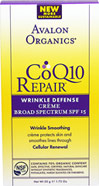 Avalon Co Q-10 Wrinkle Defense Crème <p><b>From the Manufacturer's Label</b></p>  <p><b>Daily Anti-Aging Protection to Reduce Fine Lines and Wrinkles</b></p>  <p>For All Skin Types</p> <p>Diminishes Wrinkles</p> <p>Improves Firmness</p> <p>Helps Reduce Signs of Aging</p> <p>Potent Antioxidants</p> <p>Therapeutic Organic Botanicals</p>   <p>Co Q-10 is an essential