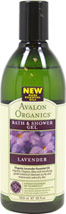 Avalon Lavender Bath & Shower Gel <p><b>From the Manufacturer's Label</b></p> <p><b>Organic Lavender Essential Oil,</b> Arginine, Organic Aloe and non-drying gentle botanical cleansers help with  extra dry skin.  </p>  <p>Rebalance and restore.  Nourishing botanicals and gentle cleansers purify and replenish extra dry, undernourished skin while the soothing aroma of organically grown Lavender calms the mind and body.</p>  <p&