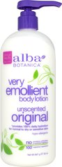 Very Emollient Body Lotion Original Unscented <p><strong>From the Manufacturer's Label:</strong></p><p><strong>Unscented</strong></p><p><strong>For Normal to Dry or Sensitive Skin</strong></p><p><strong>Clinically Tested 100% Daily Hydration</strong></p><p><strong>Hypo-Allergenic</strong></p><p><strong>Give sensitive skin what it craves:</strong></p><