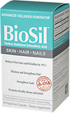 "Biosil® for Hair, Skin & Nails <p><strong>From the Manufacturer's Label: </strong></p><p>Reduces Fine Lines and Wrinkles by 19%**</p><p>Thickens and Strengthens Hair**</p><p>Strengthens Nails**</p><p>Promotes Healthy Bones and Joints**</p><p>The condition of your skin, hair, and nails depends on three proteins.</p><p><strong>Collagen</strong> ""plumps out"" the skin, removing wrinkles"