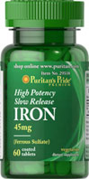 High Potency Slow Release Iron 45 mg