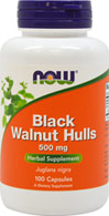 Black Walnut Hulls 500 mg <p><b>From the Manufacturer's Label: </p></b>Black Walnut Hulls come from the immature fruit of the Black Walnut Tree (Juglans nigra) References to the use of Black Walnut Hulls dates back to the Ancient Greeks and Romans, and they have been used by many cultures throughout history as a n herbal tonic. The Black Walnut Tree is indigenous to the Middle East, but is currently grown in the U.S., Canada and Europe as well. 100 Capsules 500 mg $4.