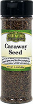 Caraway Seed <p>Prized for its warmly pungent, licorice-like flavor, Caraway Seed lends a distinctly sharp boost to pork dishes, breads and cakes alike. Caraway Seeds have been cultivated for thousands of years and are native to Asia. These small, black seeds are most popularly used as a nutty flavoring in baked goods and pastries.</p>  2.1 oz Whole  $4.24