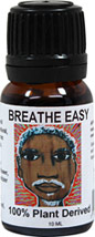 "Breathe Easy Affirmation Essential Oil Blend <p><b>From the Manufacturer's Label: </p></b><p>100% Pure Essential Oil Blend includes: </p>  <p>Eucalyptus- clears stuffiness</p>  <p>Peppermint- expands airways</p>  <p> Pine- eases breathlessness</p>  <p>Lavender- calms breathing</p>  <p>Cedarwood- reduces spasms</p>  Affirmation- ""As I breathe in eucalyptus, peppermint, lavender and pine, I feel the"