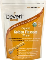 Organic Golden Flaxseeds <p><b>From the manufacturers Label:</b></p> Beveri Organic Golden Flaxseed are a good source of omega-3 and omega-6 fatty acids.  Just two tablespoons a day gives you 4 grams of dietary fiber. 16 oz Seeds  $3.99