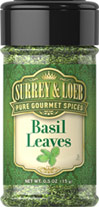 Basil Leaves <p>Basil is one of the most versatile herbs and is prized for its pleasantly sweet flavor. As a member of the mint family, Basil is native to India, where it has been cultivated for thousands of years. When accenting your recipes with Basil, it's best to add it toward the end of the cooking process to avoid burning it.</p> 0.5 oz Leaves  $3.80