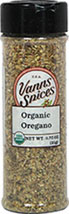 Organic Oregano <b><p> From the Manufacturer:</b></p> <p>We buy whole leaf wild Mediterranean oregano for its aroma & mild flavor.</p><p>Certifed Organic by  Oregon Tilth</p> <p>No Preservatives, No Irradiation</p>  0.75 oz Bottle  $6.99