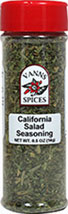 California Salad Seasoning <strong></strong><p><strong>From the Manufacturer:</strong></p><p>This Salad Seasoning, a fragrant and mild blend of herbs, contains the essence of California. Add oil and vinegar for a fine salad dressing.<br /></p> 0.5 oz Seasoning  $5.49