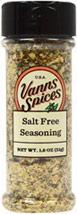 Salt Free Seasoning <b><p> From the Manufacturer:</b></p><p>All the flavor – none of the salt! Our Salt Free Seasoning is a no-sodium, citrusy blend that will add some zest to your favorite dishes. It has a virtual cornucopia of flavors, including onion, orange, mustard, citric acid, pepper, thyme, celery, basil and parsley. Our Salt Free Seasoning is a perfect choice for those watching their sodium intake. It has no preservatives and is non-irradiated.</p> 2.