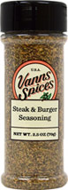 Steak And Burger Seasoning <b><p> From the Manufacturer:</b></p>Fire up the grill and take your cookouts to the next level with our incredible Steak and Burger Seasoning. It's perfect for imparting grilled flavor to all cuts of steak, and burgers large and small. We use only the freshest ingredients for a perfectly balanced blend – pepper, Worcestershire powder, salt, sugar, tomato powder, vinegar powder, citric acid, hickory smoke flavor, onion, garlic, cayenne and other