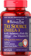 Triple Fish Omega-3 Plus D