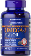 One Per Day Omega-3 Fish Oil 1360 mg (950 mg Active Omega-3)