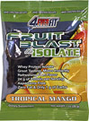 Fruit Blast Protein Tropical Mango <p><b>From the Manufacturer's Label:</b></p> <p>Fruit Blast Protein is manufactured by 4Ever® Fit.</p><p> Available in Tropical Mango & Strawberry Kiwi flavors.</p> 12 Packets  $19.99