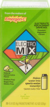 Electro Mix Lemon Lime <p><b>From the Manufacturer's Label: </p></b><p>Makes Water into Sports Water...Instantly!**</p> <p>Sodium Free</p> <p>Calorie Free</p> <p>Sugar Free</p> <p>Electrolyte Mix is a water additive and dietary supplement that contains nutritionally balanced essential electrolytes:  Potassium, Magnesium, Calcium, Manganese, plus Chromium.**</p> <p>Electrolyte Mix tastes great, has a hin