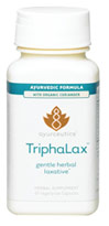 Triphalax Savesta Triphalax Ayurvedic formula contains 30 mg of Senna Alexandrina as well as 100mg  of Organic Coriander.    60 Vegi Caps
