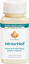 Winterwell This potent blend of Ayurvedic Herbs supports the health of the immune and respiratroy systems during the winter season and throughout the year.*  60 Vegi Caps  $13.99