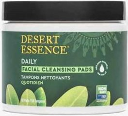 Desert Essence® Tea Tree Oil Facial Cleansing Pads <p><b>From the Manufacturer's Label: </p></b><p>Natural Tea Tree Oil Facial Cleansing Pads**</p><p>Desert Essence natural Tea Tree Oil Facial Cleansing Pads have been formulated with a combination of pure essential oils and herbal extracts to have your face free from oil and dirt residues.</p>  <p>Each moist pad contains Eco Harvest Tea Tree Oil, a plant extract from Australia, combi