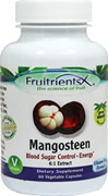 Mangosteen X 325 mg <p><b>From the Manufacturer's Label: </p></b><p>Stimulates Energy Production**</p> <p>Grown Organically without Chemicals</p> <p>Additive-Free</p>  <p>Mangosteen is a tropical fruit that originates from East Asia. One of its biggest advantages is the presence of antioxidants to help strengthen the body's immune system. A natural source of Fiber, Potassium, Calcium, Vitamin B1, Vitamin B2, Iron, Vitamin C an
