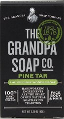 "Grandpa's Pine Tar Bar Soap <p><strong>From the Manufacturer's Label: </strong></p><p>Since 1878- ""Soap from a Simpler time.""</p><p>This soap retains the heritage of the original recipe using only the finest Pine Tar Oil (Pinus Palustris) in its formulation.**  Known as the ""Wonder"" soap, it has withstood the test of time and continues to gain popularity today.  100% Biodegradable.**</p><p>Excellent for bathing, sh"
