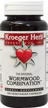 Wormwood Combination <p><b>From the Manufacturer's Label: </p></b><p>Supports the body's natural resistance to Parasites.**</p><p>Manufactured by KROEGER HERB.</p> 100 Capsules  $7.79