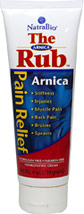 Arnica Rub <p><b>From the Manufacturer's Label: </p></b><p>Stiffness, Injuries, Aching Muscles, Back Pain, Bruises, Sprains.**</p><p>For sore muscles and Injury treatment**</p><p>Manufactured by NATRABIO.</p> 4 oz Cream  $8.99