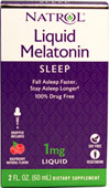 Melatonin 1 mg <p><b>From the Manufacturer's Label: </p></b><p>Drug-free Sleep Aid**</p> <p>Promotes Normal Sleep Patterns**</p> <p>100% Vegetarian</p> 2 fl oz Liquid 1 mg $5.49