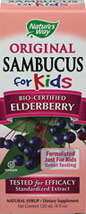 Sambucus for Kids <p><b>From the Manufacturer's Label: </p></b><p>For centuries the dark berries of European black elder (Sambucus nigra L.) have been traditionally used as a winter remedy.  In recent years, medical researchers have proven its efficacy in clinical trials.</p>  <p>Delicious Tasting  Syrup Especially for Children</p> <p>Elderberry, Echinacea and Propolis</p> <p>Berry Flavored</p> <p>Virologist Tested