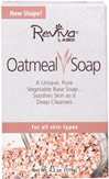 Reviva® Labs Oatmeal Bar Soap <p><b>From the Manufacturer's Label: </p></b><p>A Unique, Pure Vegetable Base Soap…Soothes Skin as it Deep Cleanses.</p>  <p>For All Skin Types.</p>  <p>Its oat kernels and sweet almond meal clean deeply, while lecithin, retinyl palmitate and olive oil leave skin with a smooth after-feel. And it soothing, non-detergent formula won't upset skin's protective balance.</p>  <p>Pure Vegeta
