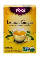 Lemon Ginger Tea <p><b>From the Manufacturer's Label: </p></b><p>Meet Our Lemon Ginger Blend</p>  <p>Our Lemon Ginger tea is based on a traditional formula that supports digestion, eases minor stomach upset and provides a refreshing herbal pick-me-up.  We use Organic Ginger, used for centuries by Ayurvedic practitioners to support digestion and warm the metabolism.  The sourness of Lemon promotes the secretion of digestive juices** and provides the p