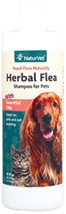 Herbal Flea Shampoo <p><b>From the Manufacturer's Label: </p></b> <p>NaturVet's Herbal Flea & Tick Shampoo is a natural flea and tick shampoo for dogs and cats. The unique natural combination of Rosemary, Cedarwood, Geranium, and Thyme repels fleas and ticks. NaturVet's Herbal Flea & Tick Shampoo, Herbal Flea Powder, and Herbal Flea Spray work together synergistically for extra support.</p> 16 oz Shampoo  $13.49