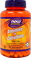 L-Arginine 500mg with Citrulline 250 mg <b><p>From the Manufacturer:</b></p> <p>Arginine and Citrulline are two amino acids that are integral to protein metabolism and utilization as well as to the maintenance of muscle tissue.  Both are key intermediates in the urea cycle, where they participate in the detoxification of ammonia via the production of urea.  Arginine that has not been converted to urea enters general circulation where it is distributed to various tis