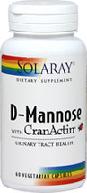 D-Mannose 500 mg with Cranactin 200 mg <p><b>From the Manufacturer's Label: </p></b><p>We are proud to bring you D-Mannose with Cranactin from Solaray.  Look to Puritan's Pride for high quality national brands and great nutrition at the best possible prices. 60 Vegi Caps 500 mg/200 mg $16.67