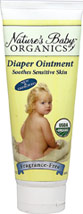 Diaper Ointment Fragrance Free <p><b>From the Manufacturer:</b></p> <p> Soothes Sensitive Skin</p> <p> 98% Certified Organic</p> <p> Enriched with Organic Calendula Extract, Organic Tamanu Oil and Organic Chickweed Extract.</p>  <p>Pamper baby with the incredible ingredients of Nature's Baby Diaper Ointment.  Our soothing ointment promotes healthy, smooth skin, keeping your cherished little one in cooing comfort.  You'll l