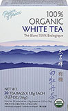 "Organic White Tea Premium Peony <b><p>From the Manufacturer:</b></p> <p>Prince of Peace®</p><p>For centuries Bai Mu Dan tea (also known as ""Peony White"") was an extremely rare tea once reserved for Chinese royalty.  Peony White Tea, considered one of the premium grades of white tea, is made of young leaves and buds from the Camellia Sinensis plant, hand picked during the fresh spring harvest in China's Fujian province.  The white, silv"