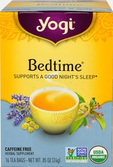 Bedtime®Tea  <p><b>From the Manufacturer's Label:</b></p> <p><b>Traditional Herb Blend</b></p> <p>This blend is a combination of traditional herbs used for centuries. Valerian and Organic Chamomile are in this formula as well as St. John's Wort and Passion Flower, used in Native American remedies.  Licorice, Cardamom and Cinnamon add a delicious, warming flavor that's just right for drinking.  </p>  <p><b>Ge