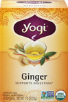 Organic Ginger Tea <p><strong>From the Manufacturer's Label:</strong></p><p>Caffeine Free Ginger Tea</p><p>In this Organic Ginger tea, there is a unique blend of herbs and spices to complement ginger's piquant flavor.  Yogi's Ginger tea tastes delicious and offers the highest quality of a timeless herb.</p><p>Get the Most Out of Every Cup!</p><br /> 16 Tea Bags  $7.69