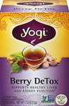 Berry Detox Tea <p><strong>From the Manufacturer's Label:</strong></p><p><strong>Revitalize with Berry DeTox</strong></p><p>Yogi's blend of herbs and fruity antioxidants is formulated to support the body.  Traditional Chinese herb Rhubarb Root joins Yellow Dock, used in Western herbalism. Organic Hibiscus infuses tangy notes, and superfruit Acai Berry imparts a fruity flavor. Enjoy this delicious tea as a part of a healthy lifestyle.&