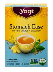 Organic Stomach Ease Tea <p><strong>From the Manufacturer's Label:</strong></p><p><strong>Discover Organic Stomach Ease Tea</strong></p><p>At home, dining out or traveling, enjoy a cup of Stomach Ease after your meal.  Our delicious medley of all organic herbs and spices is specially formulated.  We combine Fennel Seed with Licorice, two fragrant and flavorful herbs.  Refreshing Peppermint and warming herbs such as Cardamom, Coriander, an
