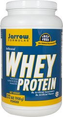 Whey Protein Unflavored Jarrow Formulas Whey Protein is a 100% natural protein concentrate of whey, from cows not treated with growth hormone (rBST), and is ultrafiltered to be low in fat, lactose and carbohydrates.   2 lbs Powder  $25.99
